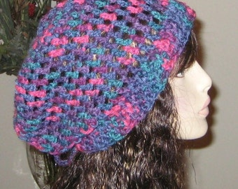 Sale Slouchy Beanie Open Stitch Snood Dread Tam