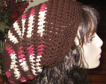 Crochet Long Slouchy Beanie Dread Tam Hat