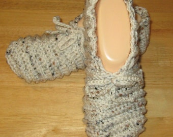 Aran Fleck Womens Slippers