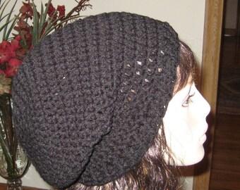 Black Slouchy Beanie Dread Tam Hat