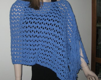 Romance in Blue Poncho