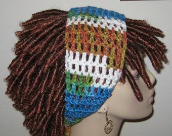 Peruvian Print Dread Headband