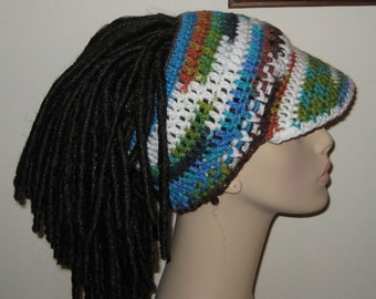 Billed Dreadband Hat Peruvian Print