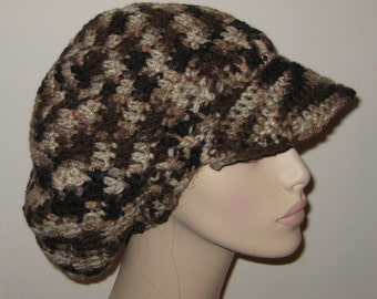 Billed Slouchy Beret Dread Tam