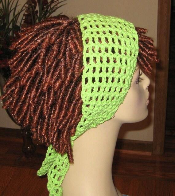 Cotton Lime Dread Headband