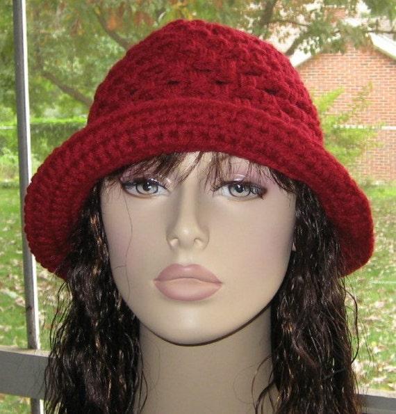 Burgundy  Cloche Hat