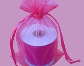 30 - 4 x 6 Hot Pink Organza Bags - Great for wedding favors, sachets, jewelry, etc.