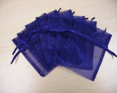 SUPER SALE - 200 - 3 x 4 Navy Organza Bags - great for sachets, favors, bath soaps and salts, and lots more