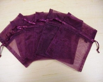 30 - 3 x 4 Burgundy Organza Bags  - Great for favors, perfect presentation for your handmade items