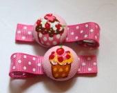 HAPPY BIRTHDAY....CupcakeButton hair clips