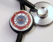 Fireman EMS Rescue Cross----Stethoscope ID Tag