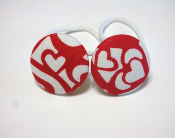 MOSAIC Hearts.........2 PONYTAIL HOLDERS