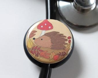 The ORIGINAL Stethoscope ID Tag--Hedgehog--