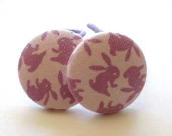 LILAC BUNNIES.......2 ponytail holders