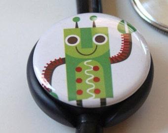 The Original Stethoscope ID Tag--Robot--