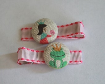 Princess and the Frog Hair Clips