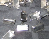 25 count Rectangle Flathead Chrome Metal Steel Studs