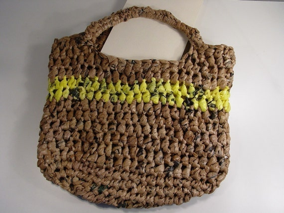 Recycled Plastic Bag Tote crochet pattern pdf by madcowdog on Etsy