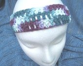 Simple Crocheted Headband in Shades of Plum and Teal