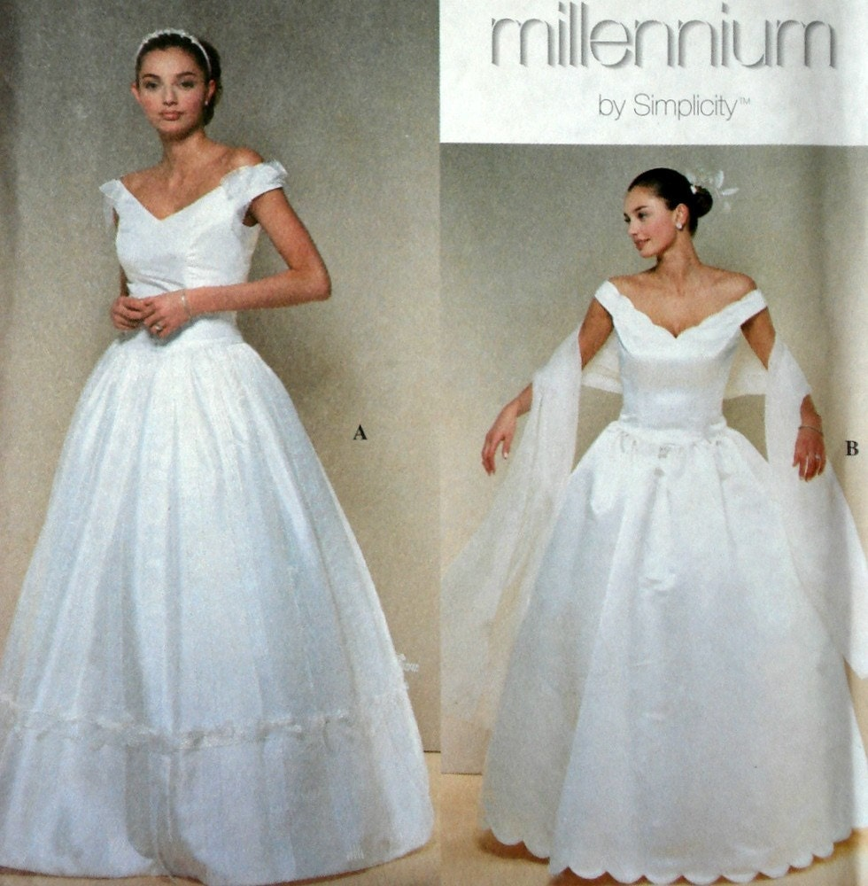 Elegant wedding dress pattern simplicity 8834 by for International wedding dress designers