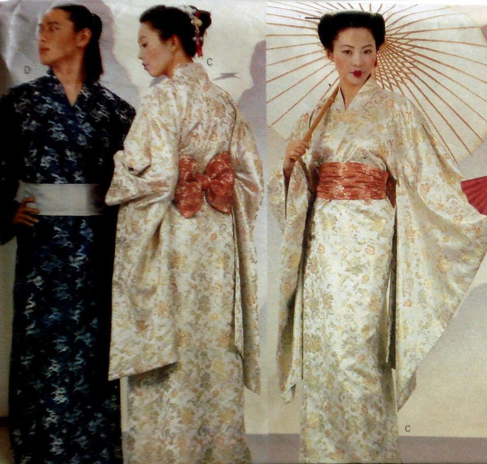 Kimono Pattern Butterick 6698 Geisha Costume Yukata Size XS S