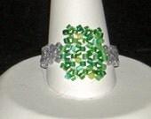 Fun Green Rectangle Ring
