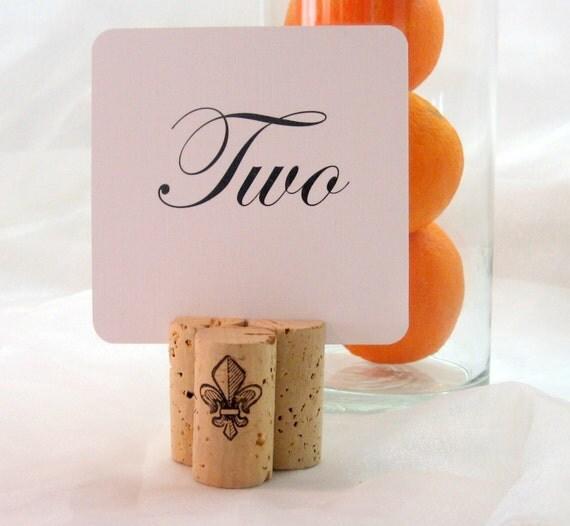 Wine Cork Table Numbers: Fleur De Lis Wine Cork Table Card Holder Set Of 20 By