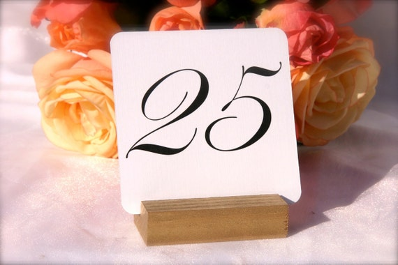 Gold Wood Table Number Holders- Set of 10