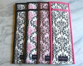 Set of 4 Flat Iron, Curling Iron Travel Cases, bridesmaid gifts, wedding, CUSTOM MADE