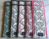 Set of 5 Flat Iron/Curling Iron Cases, Custom Fabric, Damask, Chevron, Zebra, Leopard, MADE TO ORDER