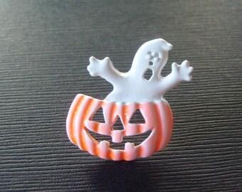 Vintage Ghost n Jack O Lantern Pin