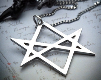 HEX - silver 6 point star necklace