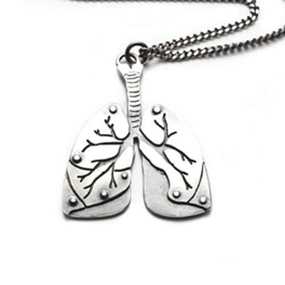 Lungs necklace LAST ONE