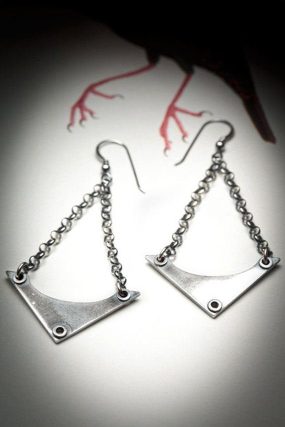 SALE - OCCULT sterling silver earrings