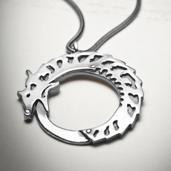OUROBOROS-sterling silver dragon