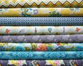 LillyBelle by Bari J, Fat Quarter Set in Cool Sunrise