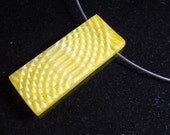 Textured pearlescent yellow  pendant