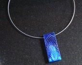 Textured pendant in cobalt and periwinkle