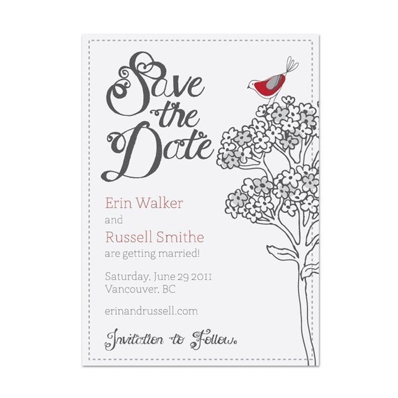 SAVE THE DATE EMAIL PHOEBE By Littlesparrowstuff On Etsy