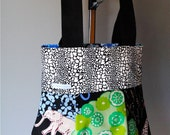Louise Tote in the Wild - OOAK Shoulder Bag - Reversible - Washable