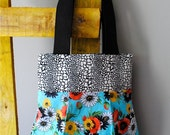 Louise Tote in Crazy Daisy - OOAK Market Bag - Reversible - Washable