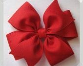 CUSTOM VALUE PACKAGE of 5 Medium Pinwheel Style Grosgrain Hair Bow - In Your Choice of Colors