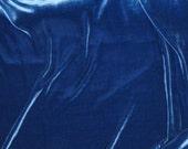 LAPIS BLUE Silk Velvet Fabric - Fat 1/4