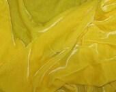 Bright YELLOW Silk Velvet Fabric - 1 Yard