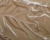 BEIGE Silk Velvet Fabric - 1 Yard