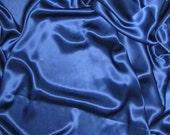 LAPIS BLUE Silk Charmeuse Fabric - 1/4 Yard