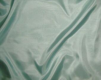AQUA China Silk HABOTAI Fabric - 1 Yard