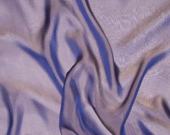 Purple and Gold Iridescent Silk Chiffon Fabric - 1 Yard