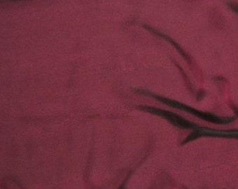 Iridescent Silk Chiffon - Charcoal Cranberry - 1 Yard