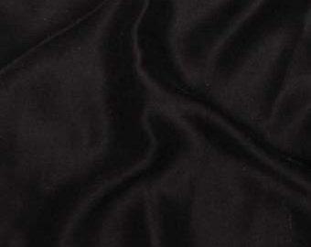 Sandwashed Silk CHARMEUSE Fabric BLACK - 1/4 Yard